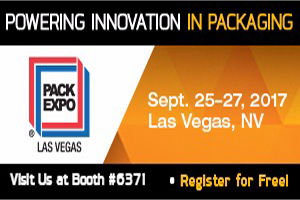 Visit US at Booth #6371–PACK EXPO LAS VEGAS–Sept.25-27,2017